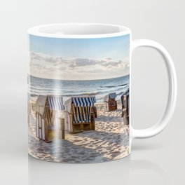 Beach chairs in the morning after sunrise Coffee Mug