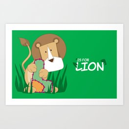 L is for Lion.. Art Print