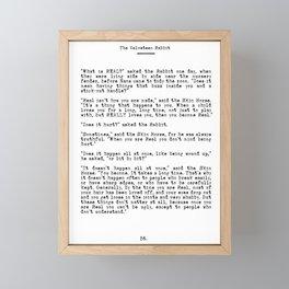 Becoming Real, Velveteen Rabbit Quote Framed Mini Art Print