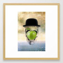 Magritte Skull Framed Art Print
