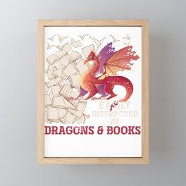 Dragon And Book Framed Mini Art Print