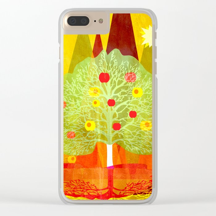 Summer Tree Clear iPhone Case