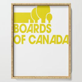 Boards of Canada Logo Yellow Serving Tray
