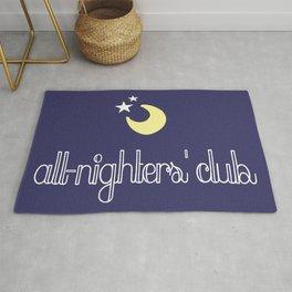 all-nighters' club Rug