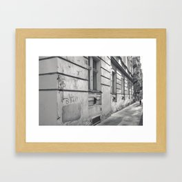 Prague street. Framed Art Print