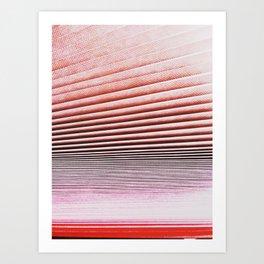 pleated blind Art Print