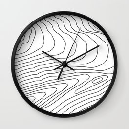 Topographic #440 Wall Clock