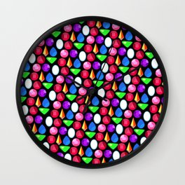 Gems Repeating Pattern Wall Clock