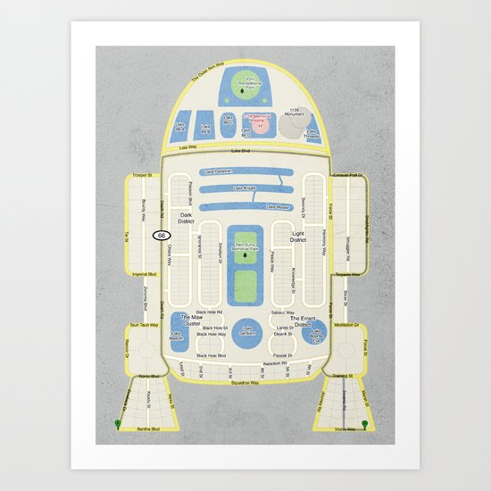 R2Detour Art Print