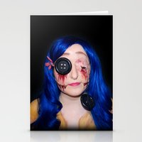 coraline Stationery Cards featuring Gory Coraline by Janelle Jex
