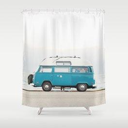 Malibu Roadtrip Shower Curtain