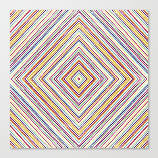 CRAYON STRIPES Canvas Print
