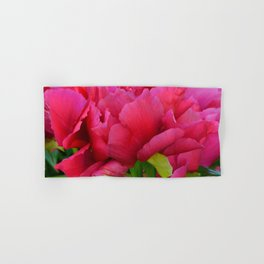 Dark Pink Tree Peony by Teresa Thompson Hand & Bath Towel