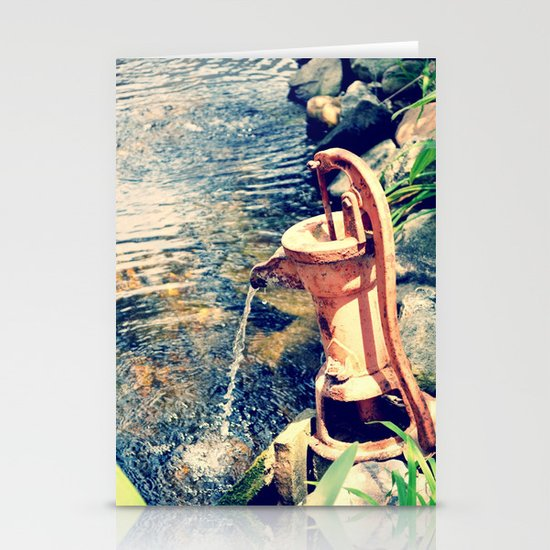 waterfountain2 Stationery Cards