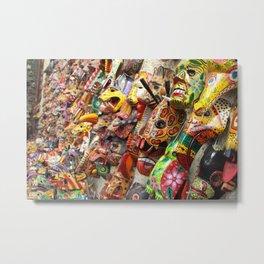 Colorful Masks Metal Print