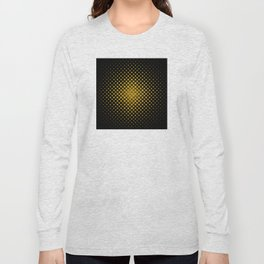 Art Deco Glitter-Gold Diamonds Glamorous Pattern Long Sleeve T-shirt