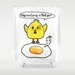 Chicken Fried Egg Hen funny present Shower Curtain