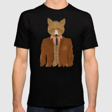 mr fox Mens Fitted Tee Black LARGE