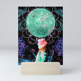 Strawberry Mint Moon Cone Mini Art Print