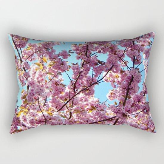 spring pink  blossoms Rectangular Pillow