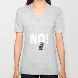 No! no.1 white Unisex V-Neck