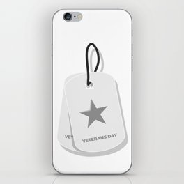Veterans Day Commemorative Military Tag Design iPhone Skin