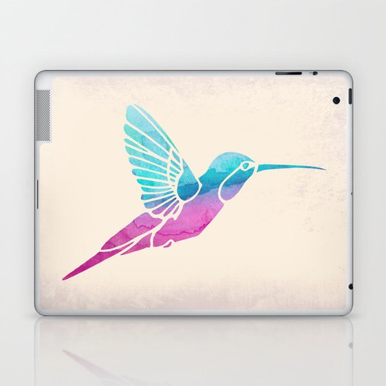Watercolor Hummingbird Laptop & iPad Skin