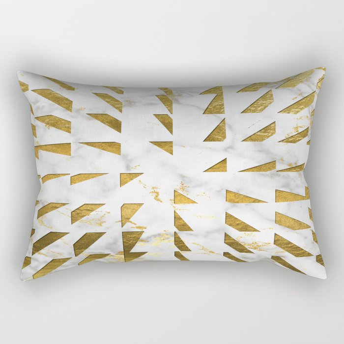 Marble and Gold Pattern #4 Rectangular Pillow