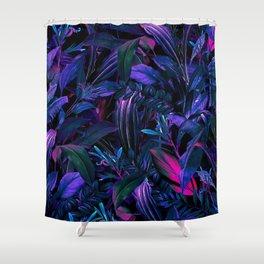 Future Garden Tropical Night Shower Curtain