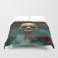 robin hood Duvet Covers featuring Robin by Anne the Viking