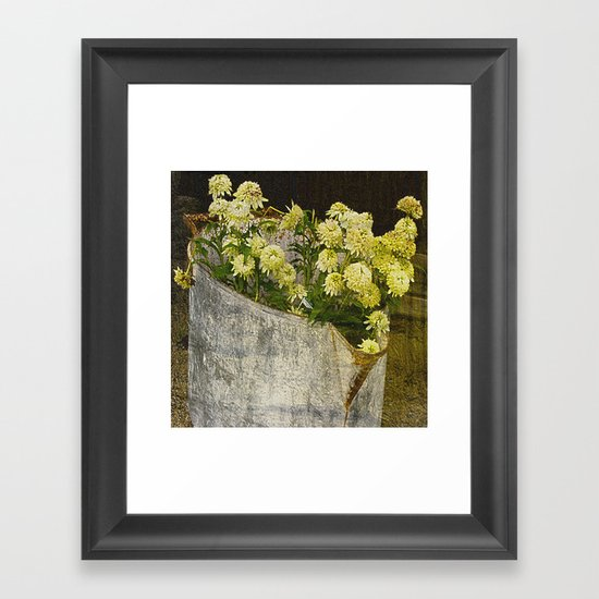 White Coneflowers Framed Art Print