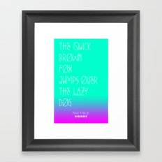 NIEWE_PANGRAMA_SERIES (REGULAR) Framed Art Print