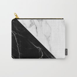 half black half white marble Carry-All Pouch