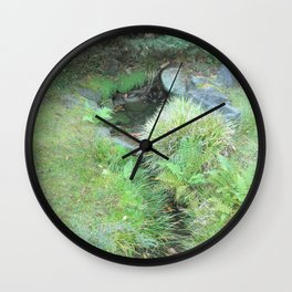 Japanese Tea Garden Hidden Stream Wall Clock