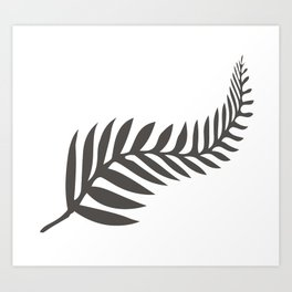 Silver Fern of New Zealand Art Print