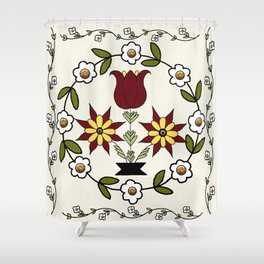 Dutch Country Floral Shower Curtain