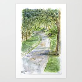 Afternoon in Riverway Art Print