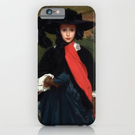 "Frederic Leighton ""Portrait of May Sartoris"" iPhone Case"