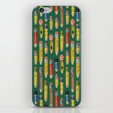Little Pencils Green iPhone & iPod Skin