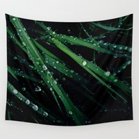 grass Wall Tapestries featuring Grass by Sushibird