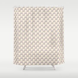 Roses & Forget Me Nots Wreath Champagne Pink Shower Curtain