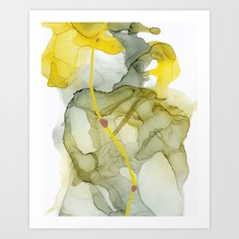 Talk to Me, Yellow Abstract Art Print