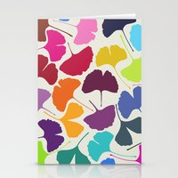camus Stationery Cards featuring Ginkgo Multicolor by Garima Dhawan