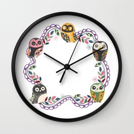 Owl-Purple (You Are Owlsome) Wall Clock