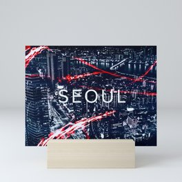 Seoul at night. Mini Art Print