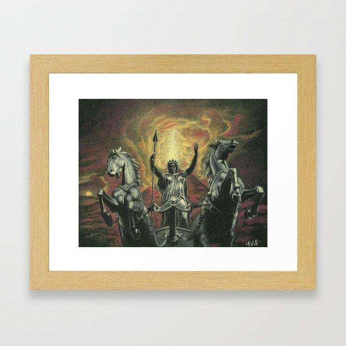 Boudica & Vesuvius Framed Art Print