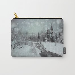 Blue Winter Landscape Carry-All Pouch