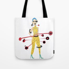 Abstract Expressionist Tote Bag