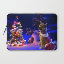 Shiba Inu Chistmas Tree Laptop Sleeve