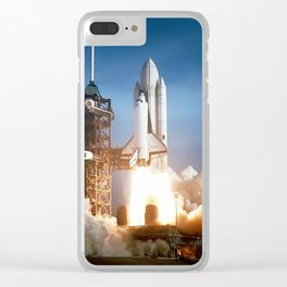 Space Shuttle Columbia - First Launch 1981 Clear iPhone Case